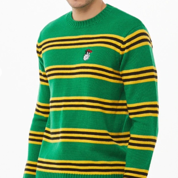 Disney 90th x Forever 21 Pete Striped Sweater NWT